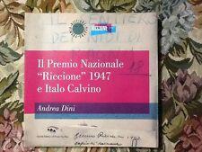 """IL PREMIO NAZIONALE """" RICCIONE """" 1947 E ITALO CALVINO"""