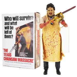 "NECA The Texas Chainsaw Massacre Horror Leatherface 7"" PVC Action Figure Toy Set"