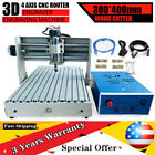 4 Axis Desktop Router Engraver Wood PMMA PCB 3040 400W Drilling Milling Machine