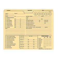 100ct Idea Heavyweight 150lb Manila Job Jacket Folder Fl9955 Auto Repair Order