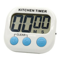 New Digital Kitchen Timer Magnetic Cooking LCD Large Count Down Clear Loud Alarm