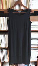 Eileen Fisher Black Shift Tank Dress, XS Classic Cotton Casual Wear $200+