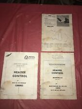 1965 Massey-Ferguson 300 410 510 Combines Header Control Instruction Booklet