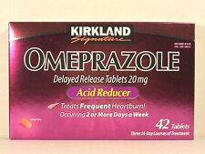 Kirkland Signature OMEPRAZOLE Delayed Release 20mg 42 Tablets *Acid Reducer*