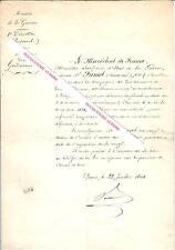 Lettre signée de Jean Baptiste VAILLANT, Maréchal de France 1854