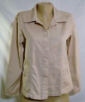 CAPPAGALLO Khaki Stretch Blazer/Jacker Size 8 Unlined Long Sleeve
