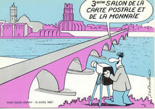 PONT-SAINT-ESPRIT 3 éme salon de la carte postale 1987 dessin DUBOUILLON