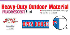 Open House Banner Sign real estate sale come on in grand opening realtor realty