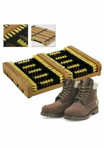 NEW Heavy Duty Double Shoe Boot Scraper Brush Outdoor Door Mat WellingtonCleaner