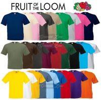 Fruit of the Loom Cotton Plain Blank Men's Women's Tee Shirt Tshirt T-Shirt