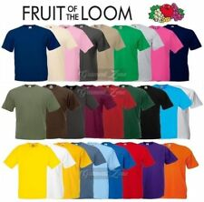 Fruit of the Loom Cotton Plain Blank Men's Women's Tee Shirt Tshirt T-Shirt