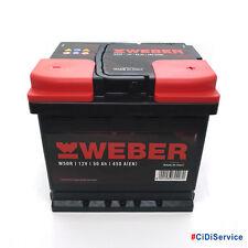 Batteria WEBER (Magneti Marelli) per auto W50R 50Ah 12V 450A PRONTA ALL'USO