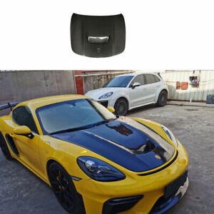 For Porsche 718 Carbon Fiber 2016 2017-2021 Front Hood Vented Bonnet Cover 1PCS