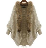 Womens Long Sleeve Oversized Loose Knitted Sweater Jumper Cardigan Outwear Coat