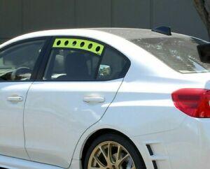 PERRIN Rear Window Vents (Neon Yellow) for 2015-2019 Subaru WRX / STi