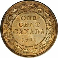 1911 Canada Large Cent Gorgeous Choice BU+ -  Great EYE APPEAL! -d64tcst1