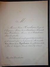 MARIE HORTENSE JEANNE RAINBEAUX  FIRMIN RAINBEAU Ecuyer de l Empereur 1866