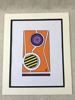 Original Art Painting Orange Purple Yellow Abstract Bold Modern Artwork
