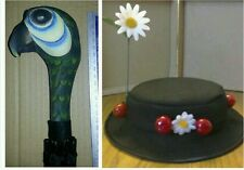 "Mesdames Mary Poppins Hat... 22 1 \ 2"" & perroquet tête Brolly. Rapide Post OPTION DE MISE EN VENTE"