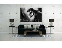 Heath Ledger Joker Black and White Poster Canvas Print Art Home Decor Wall Art