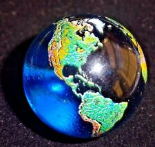 Blue Earth Glass Crystal globe sphere Marble