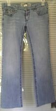 Red Camel Women's Stretch Pants Blue Denim Bootcut Distressed Jeans Size 11
