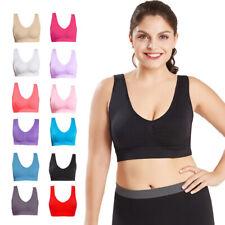 3Pcs sin costuras Corpiño deportivo talla grande para mujer gimnasio, hacer yoga Top Chaleco comodidad Inalámbrico M-4XL