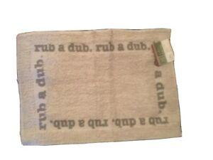 """Home Collection Bath Mat  """"Rub A Dub"""" 15""""x21""""New"""