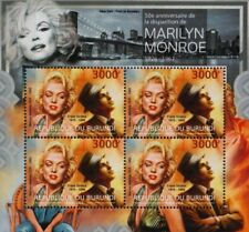MARILYN MONROE & Frank Sinatra / New York Stamp Sheet (2012 Burundi)