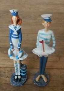 Sailor seaside friend Woman / Man ornament figurine Nautical sea / UK SELLER