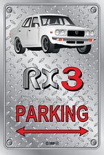 Parking Sign Metal MazdA RX3 4-door-03 - Checkerplate Look