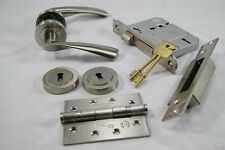 Designer Verto Door Handle Pack (External Timber Door Set) C/w Hinge