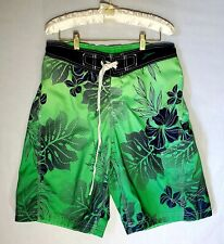 Mens Speedo Board  Shorts Tropical Lime Green  Size M Swim Trunks 100%polyester