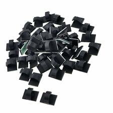 50pcs Black Plastic Wire Holder 10mm Cable Tie Mount Base WCC-2 New