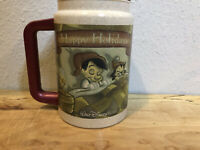 Vintage Walt Disney World 1997 Happy Holidays Pinocchio Geppetto Hot Cold Mug