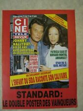 AFFICHE PROMO CINE REVUE 23/93 JOHNNY HALLYDAY