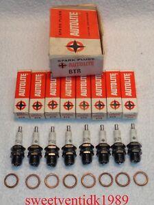 'NOS' Autolite BT8 Spark Plugs....'STAR LOGO'....3 Ring Design.....Circa 1950's