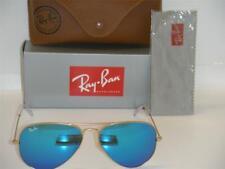 ray ban aviator 3025 - montatura oro satinato lente blu specchiata - tg media 58