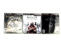 Lot of 3 Ps3 Playstation 3 Games Assasins Creed Brotherhood - Hunted - Skyrim