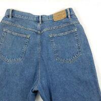 Liz Claiborne mom jeans sz 14 blue high waist womens vintage tapered 100% cotton