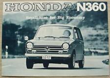 HONDA N360 Car Sales Specification Leaflet 1967-68 #67-10