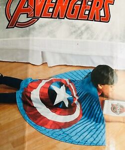 Kids Boys  Marvel Avengers Captain AmericacCozy Wings Wrap Around Blaket New