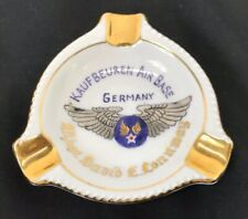 Vintage Us Army Air Forces Kaufbeuren Air Base Germany Named Ashtray