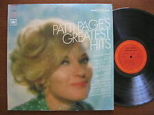 Patti Page LP 1970 Greatest Hits VG ++ Stereo Columbia CS 9326
