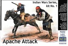 Master Box Indian Wars, Apache Attack, 2 Figures (1 w/Horse) in 1/35 188 ST