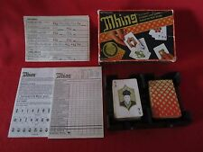 1983 VINTAGE MHING CARD GAME-BASED ON THE GAME OF MAH JHONG-COMPLETE-WELL LOVED