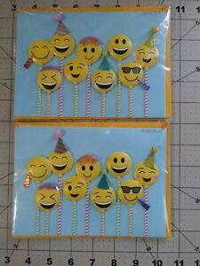 Papyrus Happy Emojis Happy Birthday Cards 3 count
