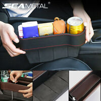 Car Seat Gap Catcher Filler Storage Box PU Leather Pocket Organizer Cup Holder