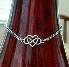 Anklet Ankle Chain Bracelet Women Foot Infinity Love Heart Shape Stainless Steel
