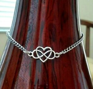 Infinity Love Heart Shape Stainless Steel Anklet Ankle Chain Bracelet Women Foot